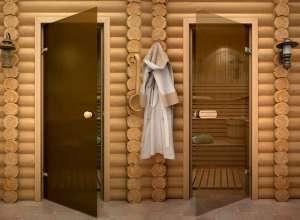Двери для сауны, стеклянные двери для сауны и бани купить